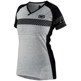100% Airmatic Bike Jersey Shortsleeve Women grey/black